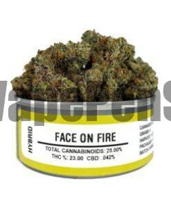 face on fire